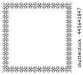 decorative vintage frame....   Shutterstock .eps vector #445641847