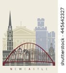 Newcastle Skyline Poster In...