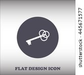 key flat vector icon