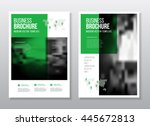 abstract business flyer design... | Shutterstock .eps vector #445672813
