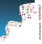 color music notes on a solide... | Shutterstock .eps vector #445690867