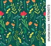 seamless floral pattern... | Shutterstock . vector #445704073