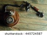 vintage telephone | Shutterstock . vector #445724587