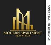 modern apartment real estate...   Shutterstock .eps vector #445765207