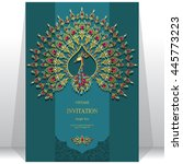 wedding invitation or card with ... | Shutterstock .eps vector #445773223