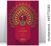wedding invitation or card with ... | Shutterstock .eps vector #445773283