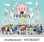 children kids energetic youth... | Shutterstock . vector #445782037