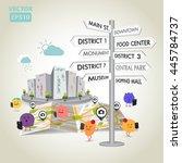 illustration of travel in the... | Shutterstock .eps vector #445784737