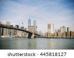 new york city  new york  usa... | Shutterstock . vector #445818127