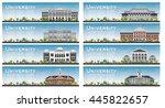 set of university study banners.... | Shutterstock .eps vector #445822657