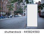 blank advertising billboard in... | Shutterstock . vector #445824583