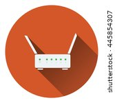 wi fi router icon. flat color...