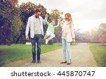 family  parenthood  adoption... | Shutterstock . vector #445870747