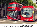 city life and public transport... | Shutterstock . vector #445874683
