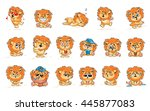 set vector stock illustrations... | Shutterstock .eps vector #445877083