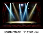 a theatre or theater stage and... | Shutterstock .eps vector #445905253