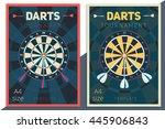 darts tournament vector poster...