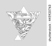 black white hipster modern... | Shutterstock .eps vector #445920763