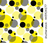 seamless dots modern pattern. white background geometry circle color seamless fabric sample. geometric pattern swatch vector illustration | Shutterstock vector #445924177