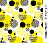 seamless dots modern pattern.... | Shutterstock .eps vector #445924177