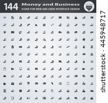money and business icons for... | Shutterstock .eps vector #445948717