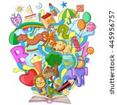 vector illustration of book of... | Shutterstock .eps vector #445956757