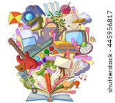 vector illustration of book of... | Shutterstock .eps vector #445956817