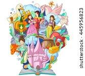 vector illustration of book of... | Shutterstock .eps vector #445956823