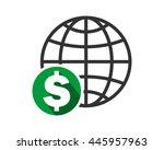 earth dollar symbol   Shutterstock .eps vector #445957963