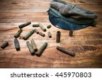 old cartridge shells and...   Shutterstock . vector #445970803