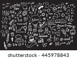 hand drawn business icon set.... | Shutterstock .eps vector #445978843
