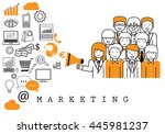 marketing team   on white... | Shutterstock .eps vector #445981237