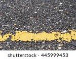 Asphalt Road With Marking Line...