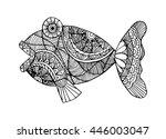 fish doodle | Shutterstock .eps vector #446003047