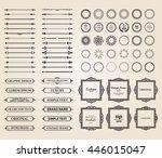 vintage set exclusive borders... | Shutterstock .eps vector #446015047