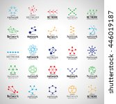 network icons set   isolated on ... | Shutterstock .eps vector #446019187