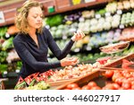 young woman shopping in the... | Shutterstock . vector #446027917