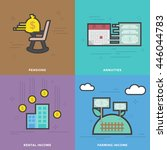 flat line vector icons for...