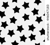 Black Stars On White Backgroun...