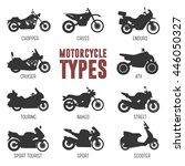motorcycle model and type.... | Shutterstock .eps vector #446050327