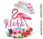 arrangement from tropical...   Shutterstock .eps vector #446062363
