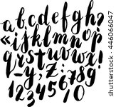 ink hand drawn alphabet. vector ... | Shutterstock .eps vector #446066047