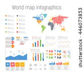 set colored infographics... | Shutterstock .eps vector #446073853