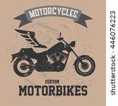 Motorcycle Black Brown Bike...