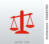scales icon   Shutterstock .eps vector #446081983