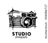 camera photography studio... | Shutterstock .eps vector #446086717