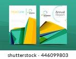 3d geometric shapes design a4... | Shutterstock .eps vector #446099803