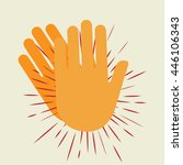 hands clapping vector icons   Shutterstock .eps vector #446106343