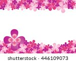 blank space pink purple blossom ...   Shutterstock .eps vector #446109073