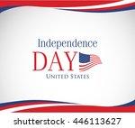 vector image of american flag ... | Shutterstock .eps vector #446113627